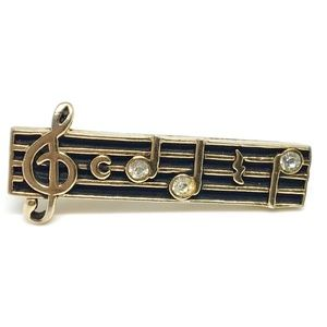 Vintage | Swank | Music Notes Tie Bar